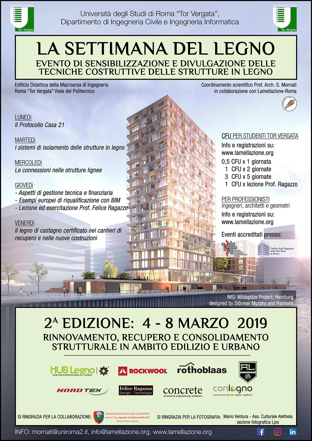 Calendario Lezioni Tor Vergata Ingegneria.La Settimana Del Legno 2019 Lamellazione Roma
